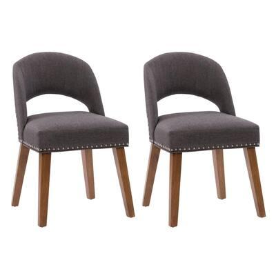Tiffany Dark Grey Upholstered Dining Chair