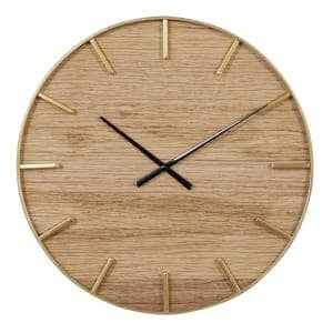 24 in. Round Wooden Wall Clock