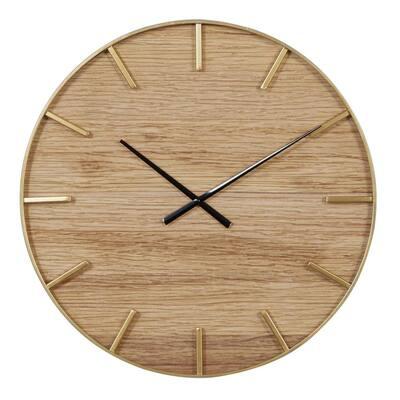 Brown Wood Rustic Wall Clock