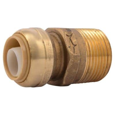 3/4 in. Push-to-Connect x 1 in. MIP Brass Adapter Fitting