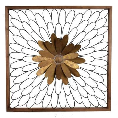 Ashlyn Bloom Gold/Natural Wall Decor