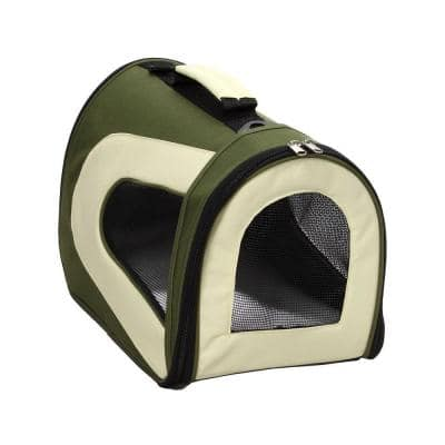 Airline Approved Green Sporty Folding Zippered Mesh Carrier - LG