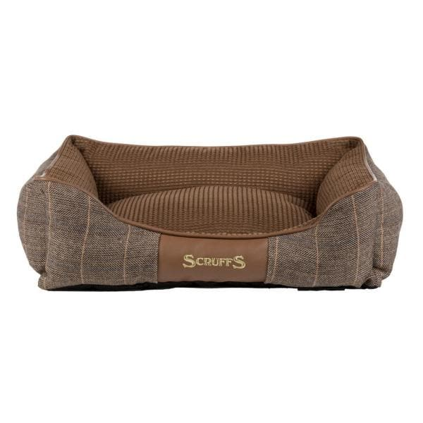 Scruffs Windsor Small Chestnut Polyester Box Dog Bed Bed Rcd 938574 The Home Depot