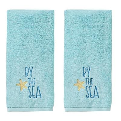 Ocean Watercolor Hand Towel (2-Pack), Blue