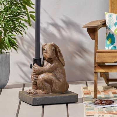 Fenske Rabbit 60.67 lbs. Concrete Patio Umbrella Base in Light Brown