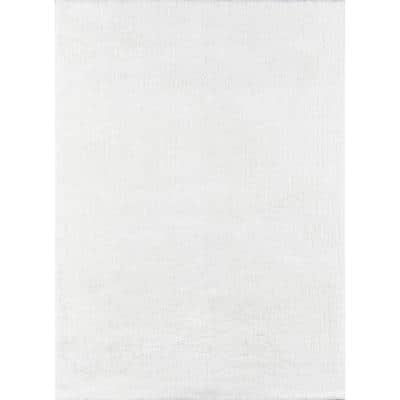 Velvet Shag White 7 ft. 6 in. x 9 ft. 6 in. Indoor Area Rug