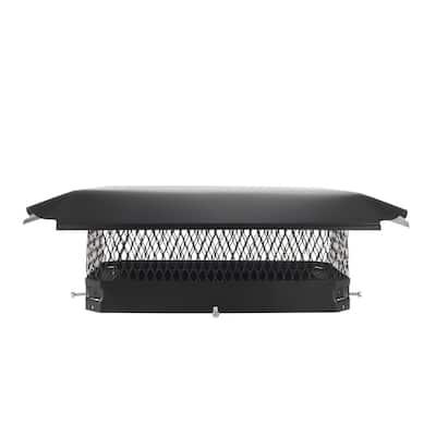 17 in. x 10 in. California Oregon Bolt-On Single Flue Chimney Cap in Black Galvanized Steel