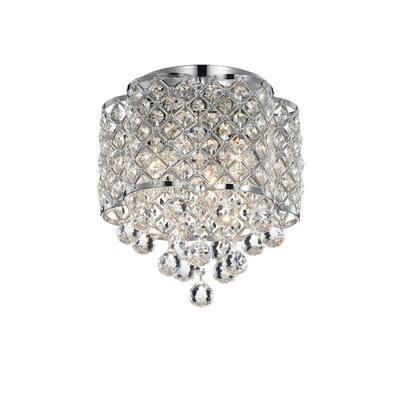 Jannings 13 in. 3-Light Indoor Chrome Flush Mount Ceiling Light with Light Kit