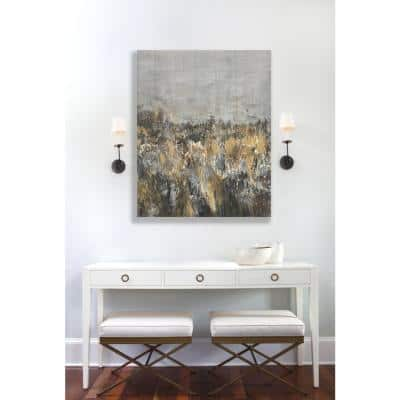 """34 in. x 46 in. """"Rocky Abstract"""" by Sanjay Patel Printed Canvas Wall Art"""
