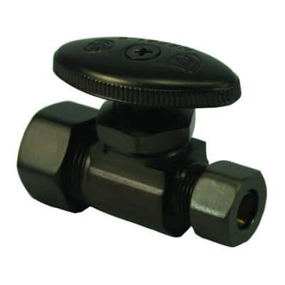 Water Supply Straight Stop 5/8 in. Compression Inlet x 3/8 in. Compression Outlet in Oil Rubbed Bronze