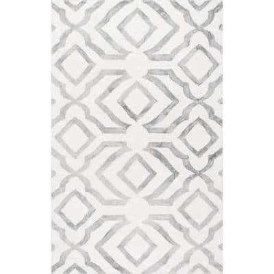 Brienne Geometric Gray 9 ft. x 12 ft. Area Rug