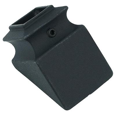 5/8 in. Satin Black Metal Angled Baluster Shoe