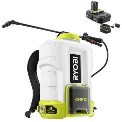 ONE+ 18V Cordless Battery 4 Gal. Backpack Chemical Sprayer with 2.0 Ah Battery and Charger