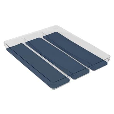 2 in. H x 12.75 in. W x 16 in. D Plastic Utensil Tray