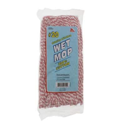 Cotton Replacement Candy Stripe Wet Twist Mop Head