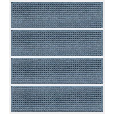 Aqua Shield Squares 8.5 in. x 30 in. Stair Treads (Set of 4) Bluestone