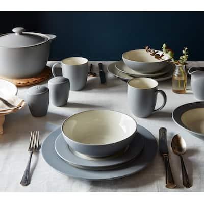 Colorwave Slate Grey  Stoneware Round Vegetable Bowl 9-1/2 in., 64 oz.