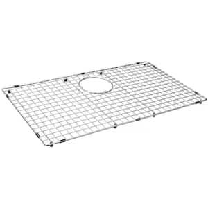 29.49 in. x 16.5 in. Rear Drain Heavy-Duty Stainless Steel Sink Grid