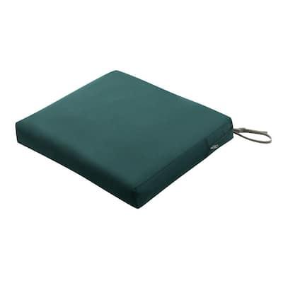 Ravenna 21 in. W x 19 in. D x 3 in. Thick Mallard Green Rectangular Outdoor Seat Cushion