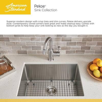 Pekoe Undermount Stainless Steel 29 in. Double Bowl Kitchen Sink Kit