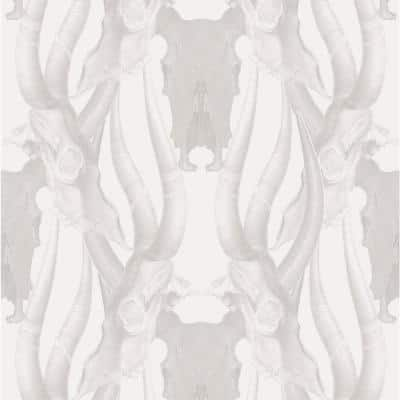 Bull Smoke Fabric Peelable Wallpaper (Covers 36 sq. ft.)