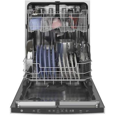 24 in. Stainless Steel Top Control Built-In Tall Tub Dishwasher with Stainless Steel Tub, Steam Cleaning, and 48 dBA