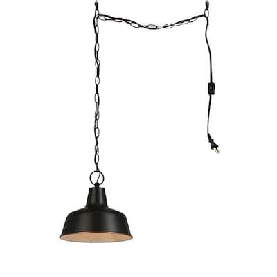 Mason 1-Light Swag Pendant Light in Oil Rubbed Bronze