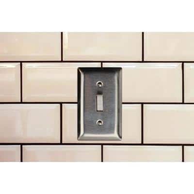 Pass & Seymour 302/304 S/S 4 Gang 4 Box Mounted Blank Wall Plate, Stainless Steel (1-Pack)