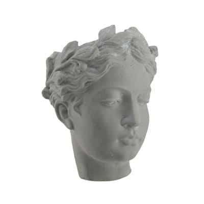 Cement Classic Greek Lady Indoor/Outdoor Wall Mounted Head Planter