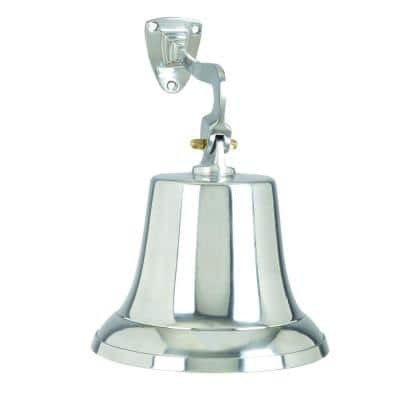 Classic Silver Aluminum Bell with Beautiful Wall Bracket