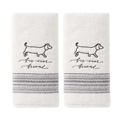White Solid Cotton Single Hand Towel