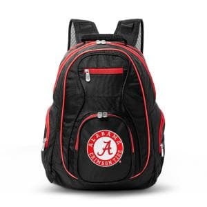 NCAA Alabama Crimson Tide 19 in. Black Trim Color Laptop Backpack