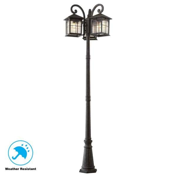 Home Decorators Collection Brimfield 3, Outdoor Portable Lamp Post