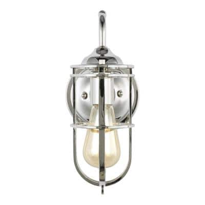 Urban Renewal 5.5 in. W 1-Light Polished Nickel Wall Sconce