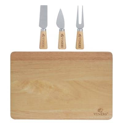 Everyday 3-Piece Cheese Knife Set with Bamboo Cutting Board