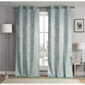 Robins Thermal Grommet Blackout Curtain - 38 in. W x 96 in. L