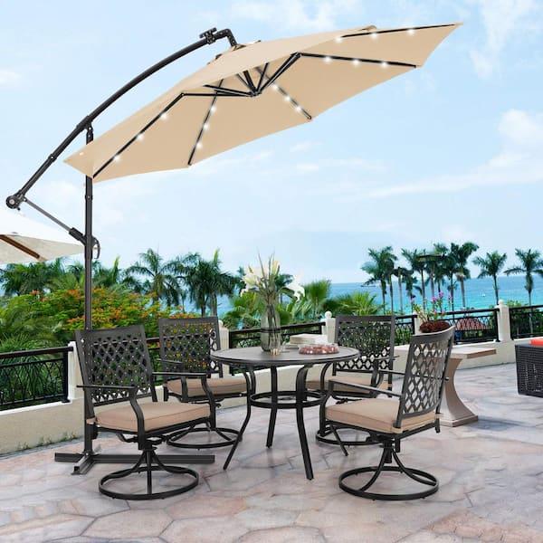 Mondawe 10 Ft Steel Cantilever Tilt, Cantilever Patio Umbrella Cover