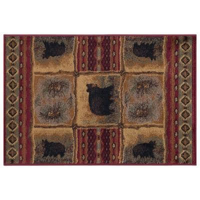 Nature Red 2 ft. x 3 ft. Area Rug