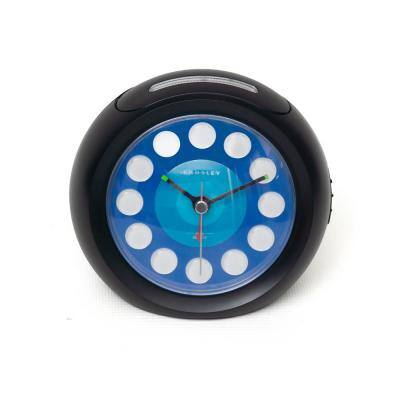 33862- Vintage Modern Ball Alarm Black