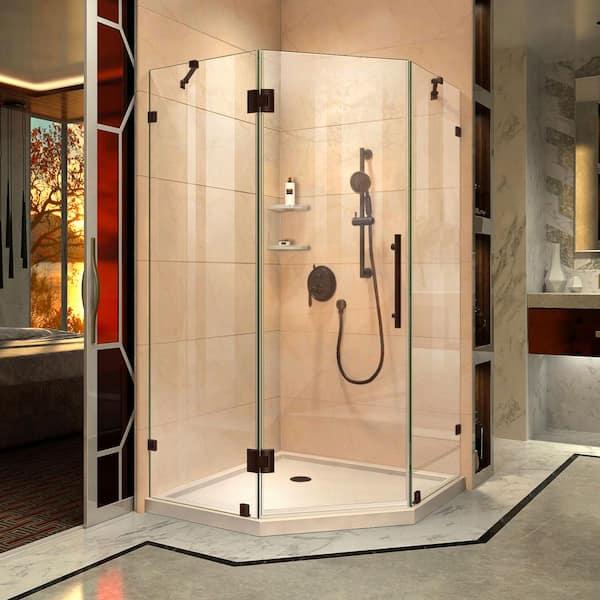 Frameless Hinged Shower Enclosure, Bathroom Enclosures Home Depot