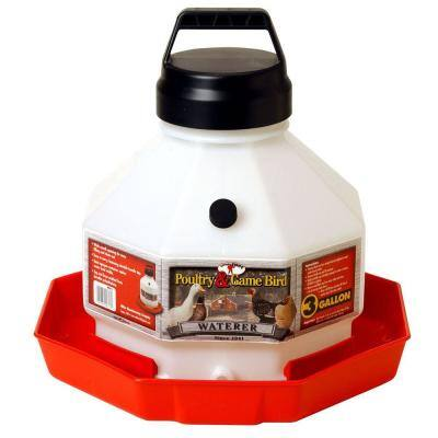 3 Gal. Plastic Poultry Waterer