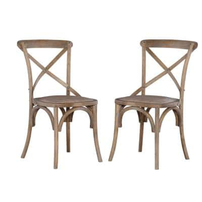 Brown Bentwood Chairs (Set of 2)