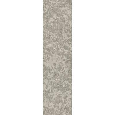 Woven Fringe - Color Moongaze Residential 9 in. x 36 in. Peel and Stick Carpet Tile (8 Tiles/Case)