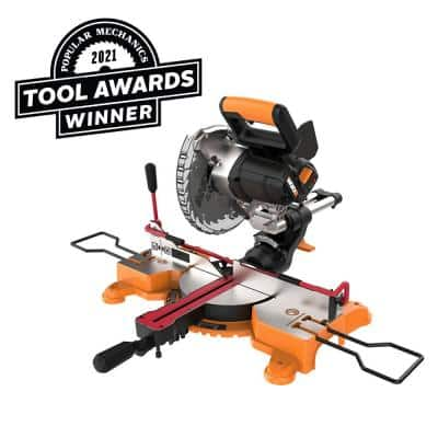 Power Share 20-Volt 7-1/4 in. Sliding Miter Saw with Clamping Feature (4.0 mAh Battery and Charger Included)