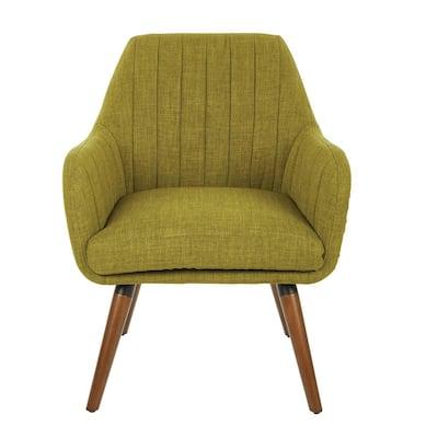Mattie Green Fabric Chair with Coffee Legs