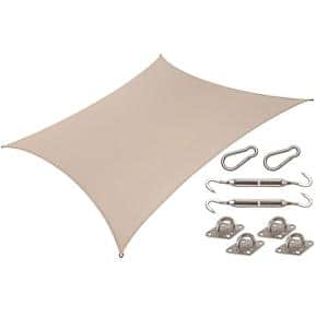 Coolhaven 12 ft. x 12 ft. Sahara Square Shade Sail with Kit