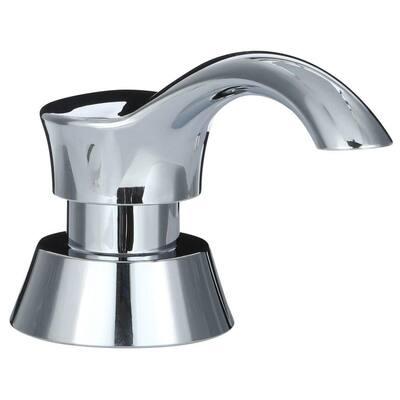 Pilar Sink Mounted Metal Soap Dispenser in Chrome