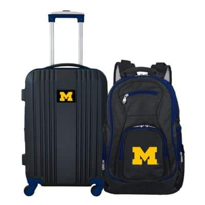 NCAA Michigan Wolverines 2-Piece Set Luggage and Backpack