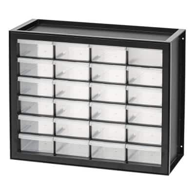 24 Drawer Parts Cabinet in Black