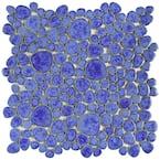 Pebble Blue Cloud 11 in. x 11 in. x 6 mm Porcelain Mosaic Tile (8.6 sq. ft. / case)